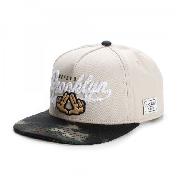 Cayler & Sons Snapback Cap Defend Brooklyn Sand Camouflage