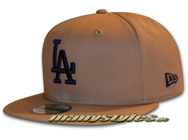 LA Dodgers MLB League Essential 9FIFTY New Era Snapback Cap Camel Navy