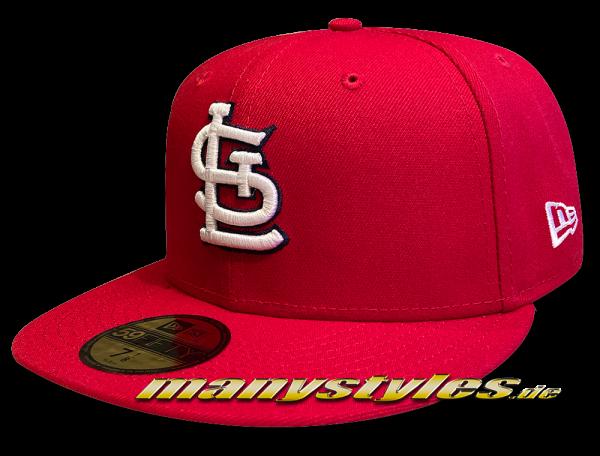 Saint Louis Cardinals MLB 59FIFTY Authentic NE Team Structure Cap in Red White Black OTC von New Era