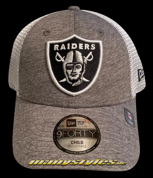 Las Vegas Raiders Oakland Raiders (Los Angeles) NFL 9FORTY Team Chyt Home Field Trucker Snapback Cap White Black OTC von New Era
