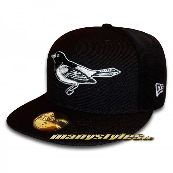 BALTIMORE ORIOLES MLB Basic exclusive 59FIFTY Cap Black White von New Era back view