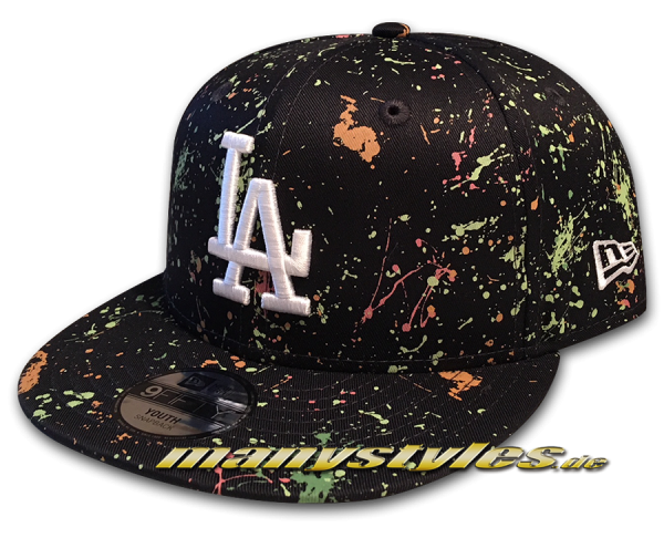 LA Dodgers MLB 9FIFTY Snapback Cap Kids Paint Pack Black Multi Color Painting von New Era