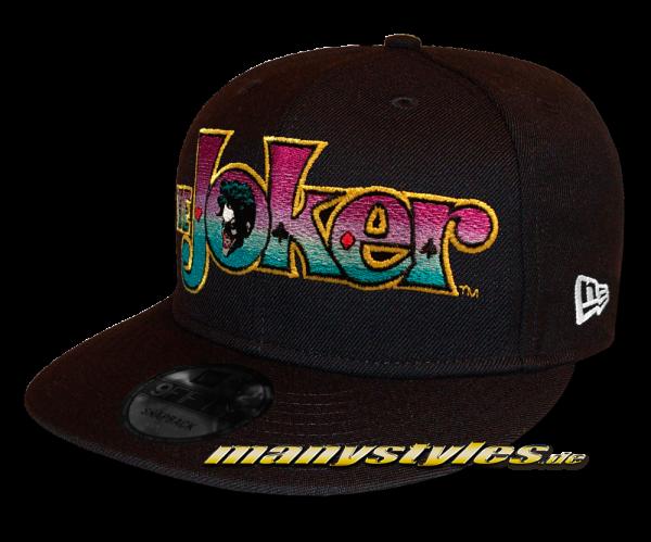 DC Comic Joker Script 9FIFTY Snapback Cap Black Multi Colored von New Era