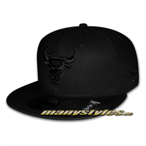 Chicago Bulls 9FIFTY NBA Cap Diamond Era Black on Black
