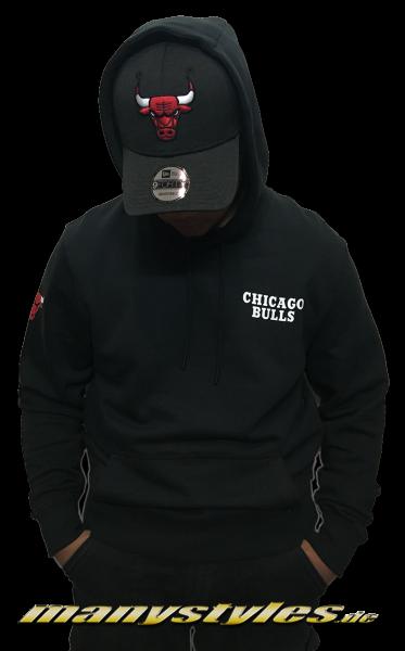 Chicago Bulls NBA Team Apparel PO Hoody Hooded KapuzenSweatshirt Black Red White OTC von New Era