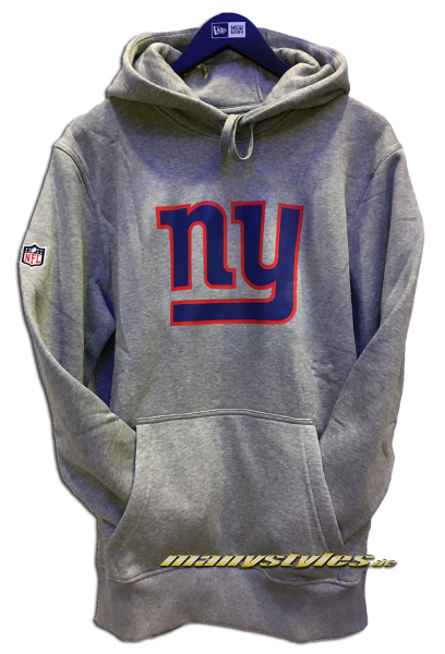 NY Giants NFL Team Logo PO Hood Hooded Hearther Grey Team Color von New Era