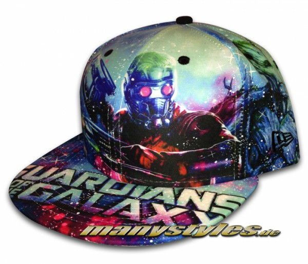 Marvel Comic Art 59FIFTY Cap Guardians of the Galaxy All Over Sketches Multi Glowin in the Dark excl