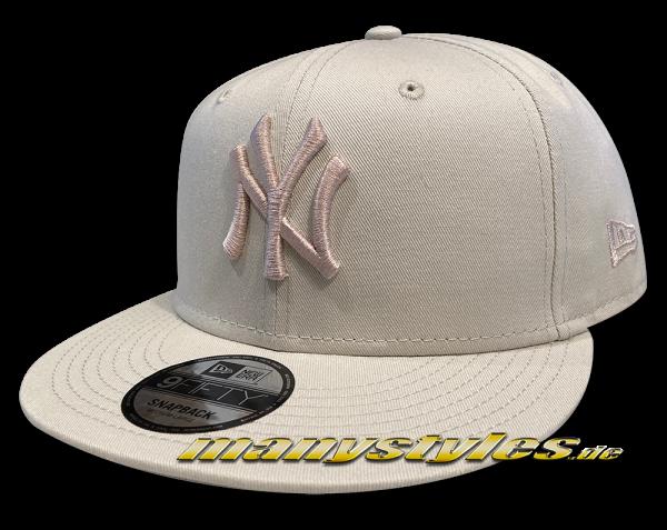 NY Yankees MLB 9FIFTY Snapback Cap League Essential Tonal Stone von New Era