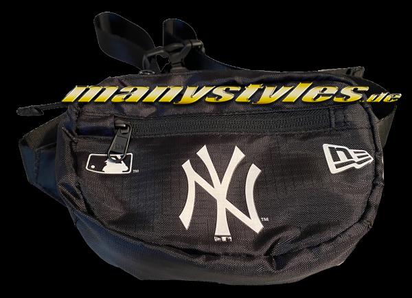 NY Yankees MLB Logo Micro Waist Side Pack Black White von New Era