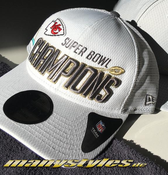 Kansas City Chiefs NFL Superbowl SBLIV Champion Trucker Cap Snapback Grey White von New era
