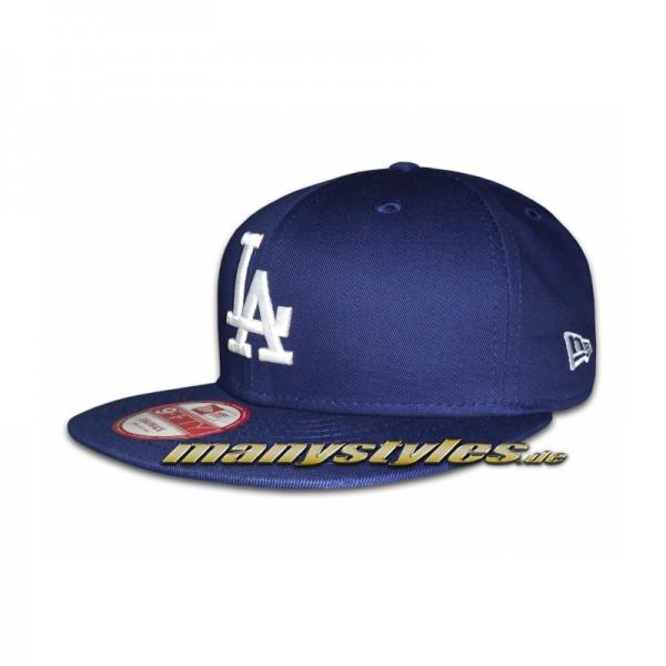 LA Dodgers 9FIFTY MLB Authentic Cotton Block Royal White Team Snapback Cap