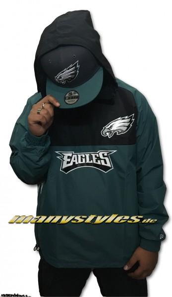 Philadelphia Eagles NFL Color Block Windbreaker OTC Official Team Color Green Black White von New Era