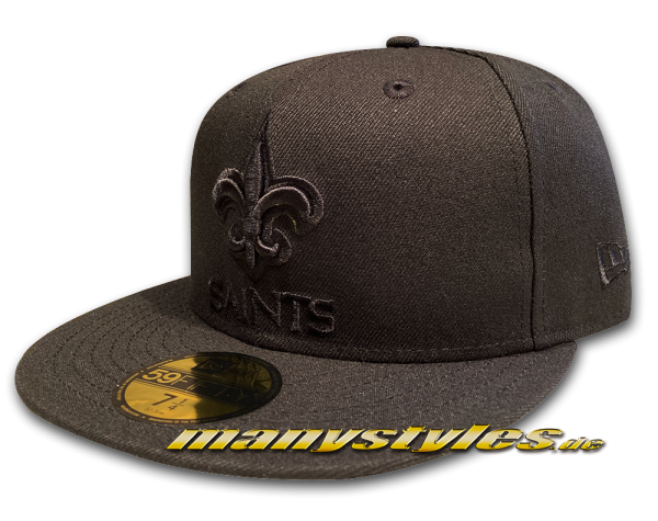 manyStyles New Orleans Saints NFL 59FIFTY exclusive Cap Black on Black von New Era Front