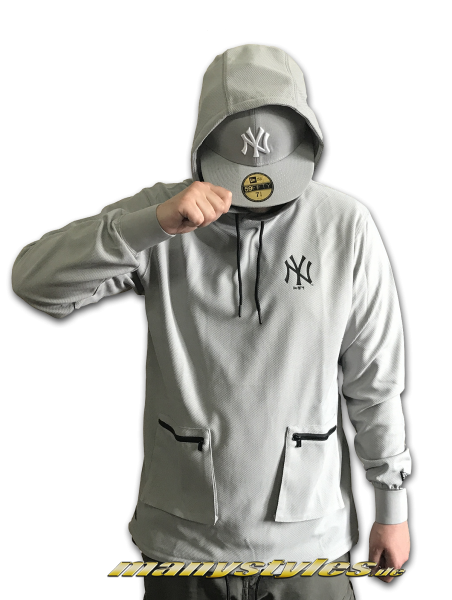 NY Yankees Tech Series Long Hooded Grey