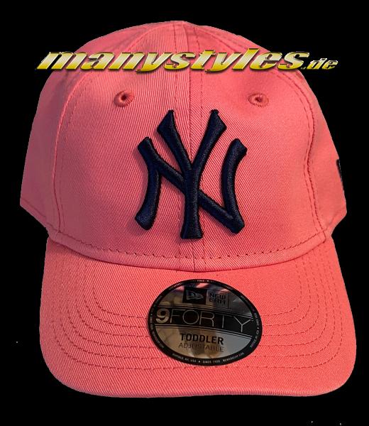 NY Yankees 9FORTY Basic Infant Curved Viosor Cap Lava Red Navy von New Era