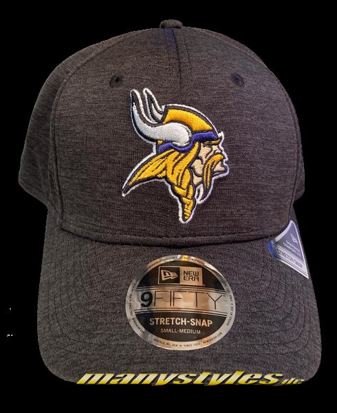 Minnessota Vikings NFL 9FIFTY Stretch Snapback Cap Tonal Charcoal Black von New Era