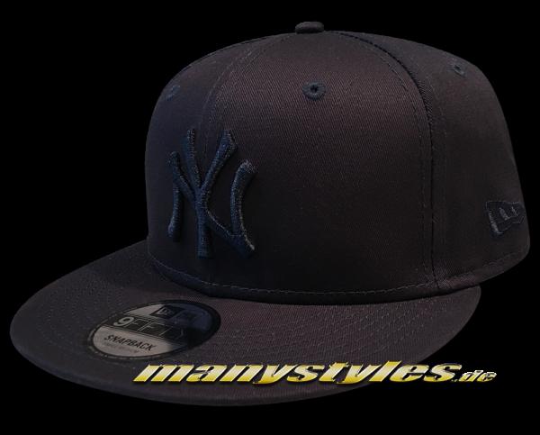 NY Yankees MLB 9FIFTY Snapback Cap Navy League Essentia Navy Tonal von New Era