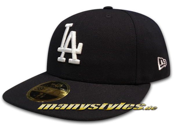 LA Dodgers MLB LC Authentic Performance Cap Curved Visor Navy White LP Low Profile Cap von New Era