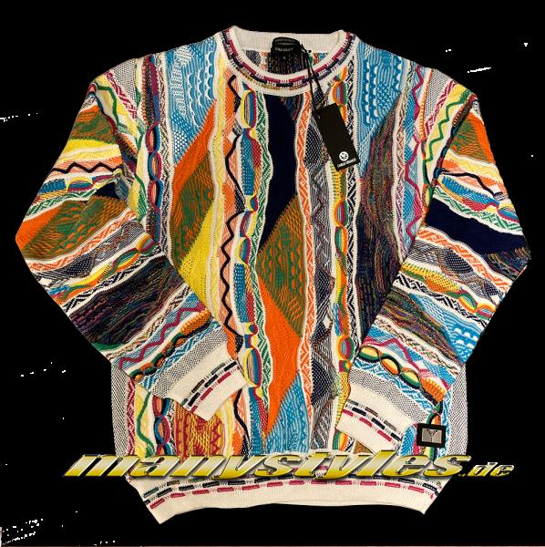 Carlo Colucci Sweater Pullover Strick Pullover White Multi
