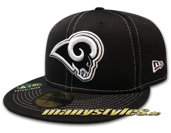 Los Angeles Rams 59FIFTY Fitted NFL19 SL RD 5950 Cap Black White von New Era
