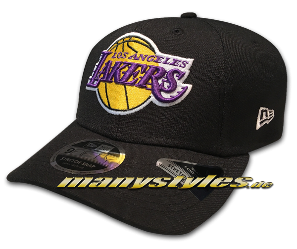 LA Lakers 9FIFTY NBA Stretch Fit Snapback Cap Black Official Team Color OTC von New Era