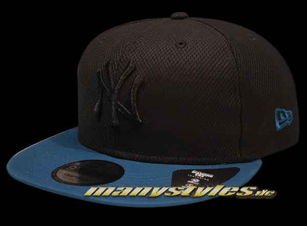 NY Yankees MLB 9FIFTY Snapback Cap Diamond Era Essential Black Turqouise von New Era