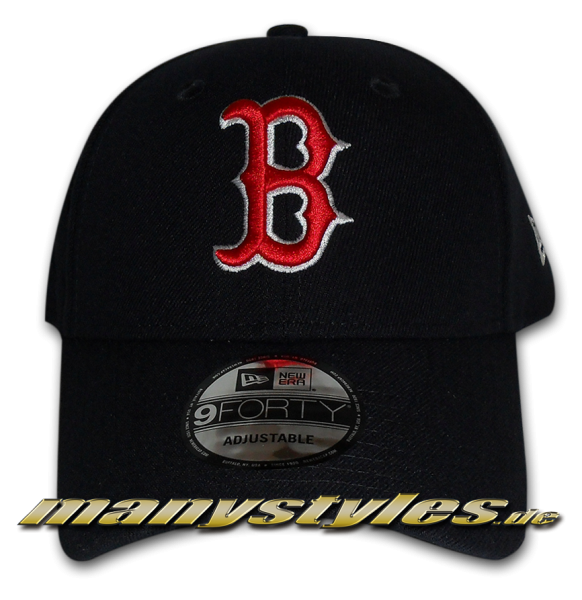 Boston Red Sox 9Forty MLB The League Essentials Curved Visor Adjustable Cap