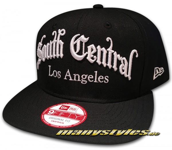 LA Dodgers South Central 9FIFTY Original Fit Black White Snapback