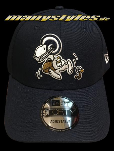 Los Angeles Rams 9FORTY NFL Peanuts Cap 940 Adjustable Cap Ocean Blue White von New Era