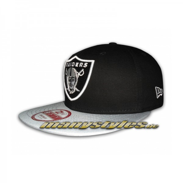 Oakland Raiders 9FIFTY NFL Team Cotton Block Snapback Cap