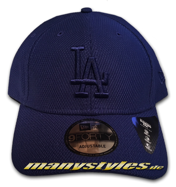 LA Dodgers MLB 9FORTY Diamond Era Mono Team Color Cap Light Royal Tonal von New Era