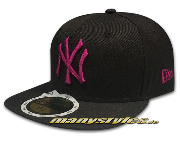 NY Yankees 59FIFTY MLB Basic Cap Black sparkling grape 59FIFTY von New Era
