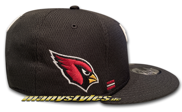 Arizona Cardinals 9FIFTY NFL Sideline 2020 On Field Snapback Cap Black Red OTC von New Era Alternate View