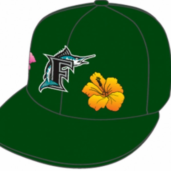 Florida Marlins MLB 59FIFTY manyStyles Pastell exclusive Miami Vice Green Pink Yellow von New Era