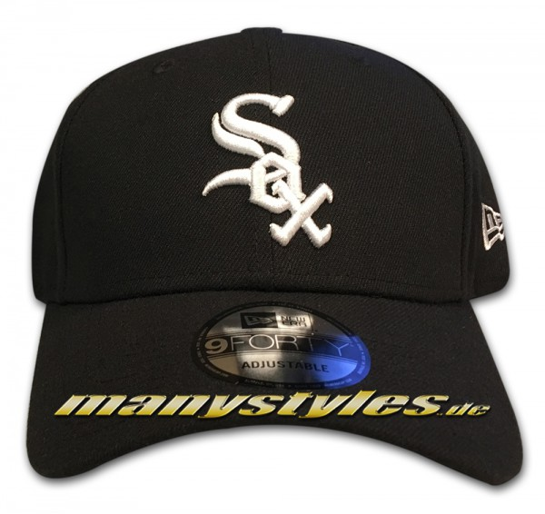Chicago White Sox The League Essentials MLB Curved Visor 9Forty Adjustable Cap von New era