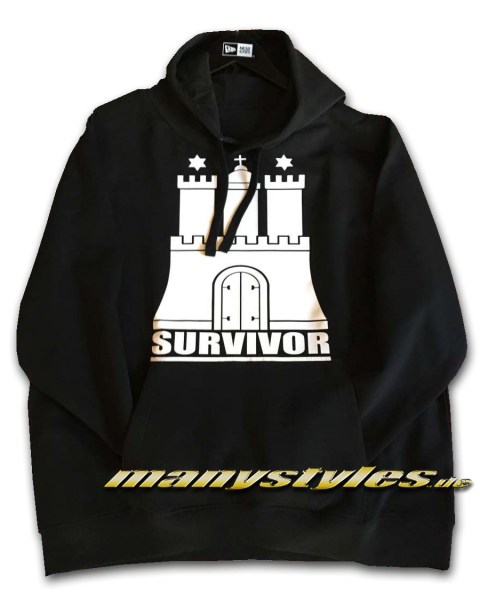 HH Hamburg Survivor exclusive Hammaburg Hooded Sweatshirt in Black White