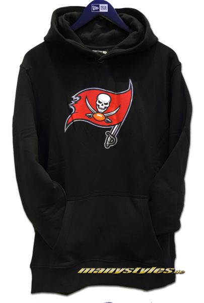 Tampa Bay Buccaneers NFL PO Hood Hooded Sweater Black Official Team Color von New Era