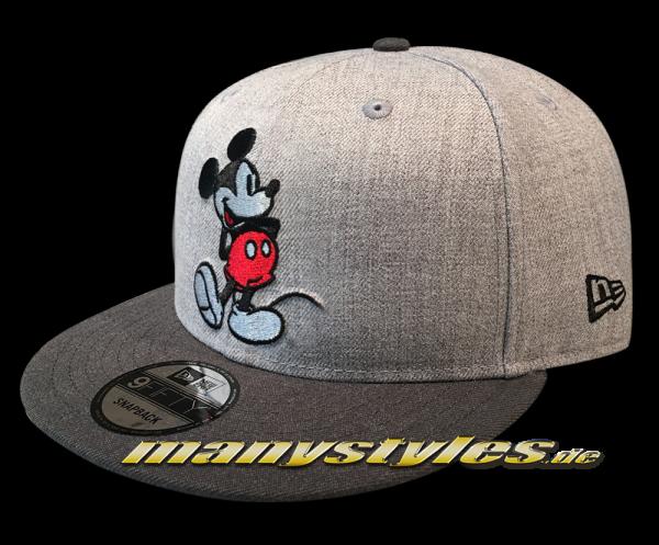 Disney Mickey Mouse New Era 9FIFTY Snapback Cap Heather Grey