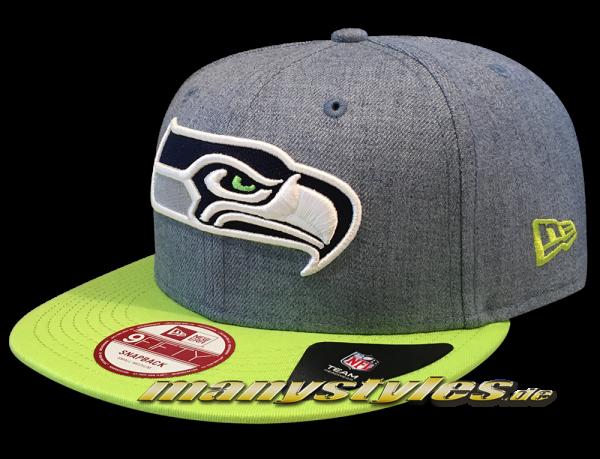 Seattle Seahawks 9FIFTY NFL Heather Contrast Snapback Cap von New Era