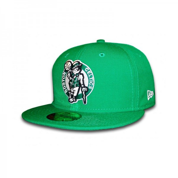 Boston Celtics 59FIFTY NBA Team HWC Basic Cap Kelly Green von New Era