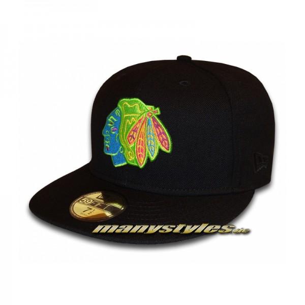 "NEW ERA Chicago Blackhawks NHL Cap ""MULTITOP"" Black"