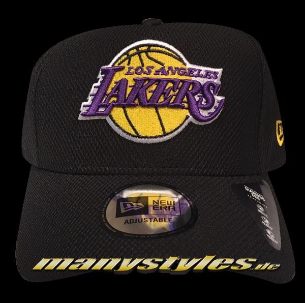 LA Lakers 9FIFTY NBA Black Base Snapback Cap Diamond Era Curved Visor Black OTC Official Team Color von New Era