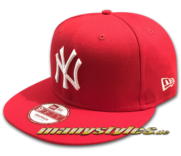 NY Yankees 9FIFTY MLB League Essential Red White Snapback