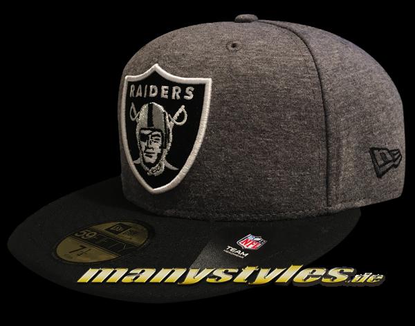 Oakland Raiders NFL 9FIFTY Jersey Essential Snapback Cap Graphite Black von New Era