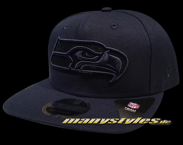 Seattle Seahawks NFL 9FIFTY OF Original Fit Snapback Cap Metallic Mark Tonal Navy von New Era