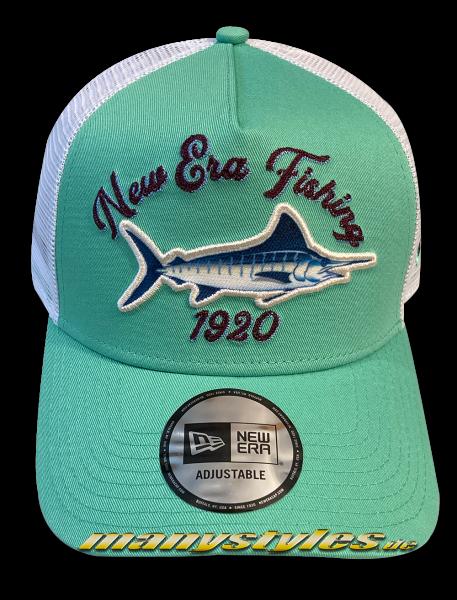 New Era Fishing 9FORTY Trucker Snapback Cap Fresh Mint Green AFrame Curved von New Era
