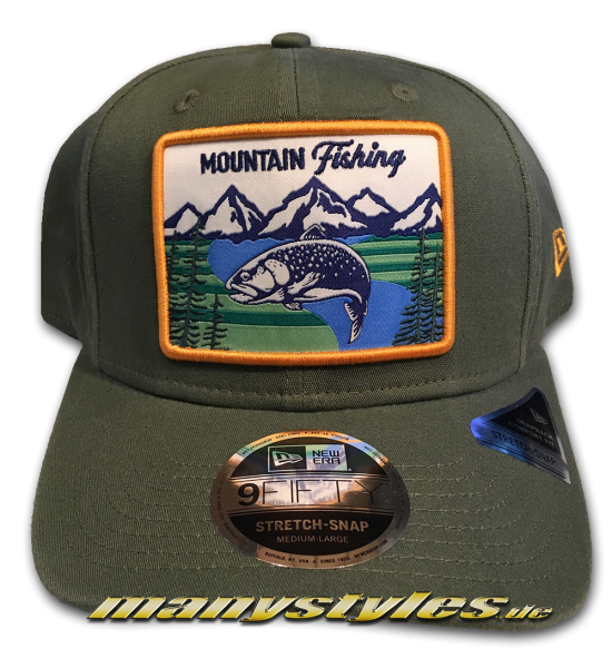 New Era Licenced Mountain Fishing 9FIFTY Stretch Snapback Cap 950 SS StretchSnapback Nov Olive von New Era Front
