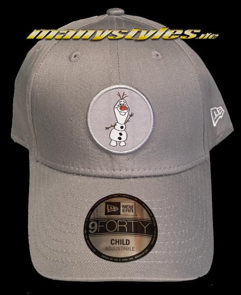 Disney Frozen Olaf 9Forty Curved Visor Adjustable Kids Child Cap Grey von New Era