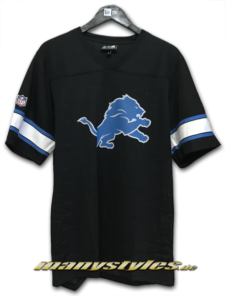 Detroit Lions NFL Team V-Neck Jersey Black