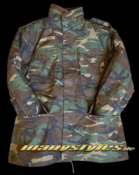 Brandit M65 Army Parka Jacket Woodland Camouflage
